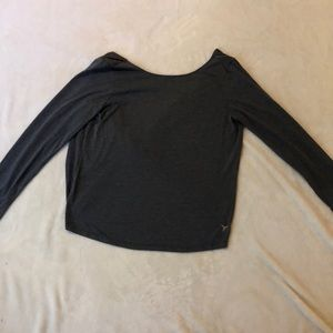 Long sleeve workout top.